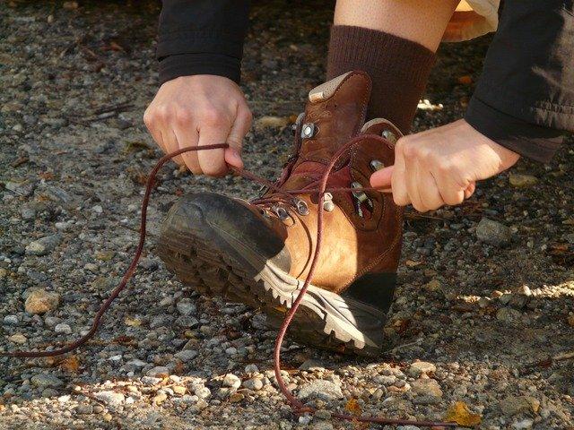 Wandern Schnürsenkel